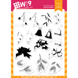 Bells and Bows, WPlus9 Design Studio Clear Stamps -
