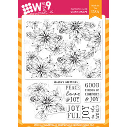 Joyful Poinsettia, WPlus9 Design Studio Clear Stamps -