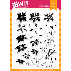 Poinsettia Builder, WPlus9 Design Studio Clear Stamps -