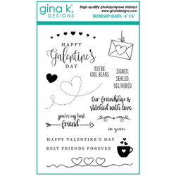 Friendship Hearts, Gina K Designs Clear Stamps - 6.09016E+110