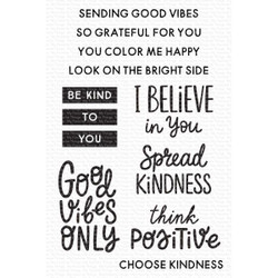 Good Vibes, My Favorite Things Clear Stamps - 849923038246