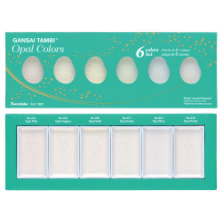 Opal Colors - 6 Color Set, Gansai Tambi -