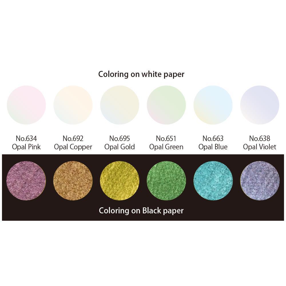 Opal Colors - 6 Color Set, Gansai Tambi -