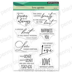 Love Quotes, Penny Black Cling Stamps -