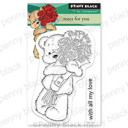 Roses For You, Penny Black Cling Stamps -