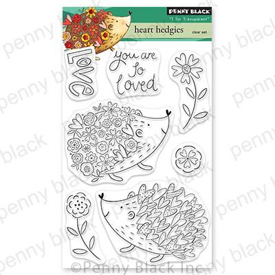 Heart Hedgies, Penny Black Cling Stamps -