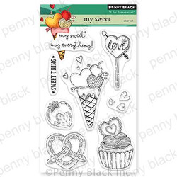 My Sweet, Penny Black Cling Stamps -