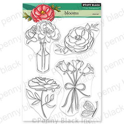 Blooms, Penny Black Cling Stamps -