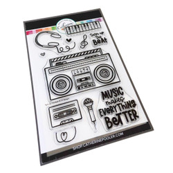 Turn Up the Beat, Catherine Pooler Clear Stamps -