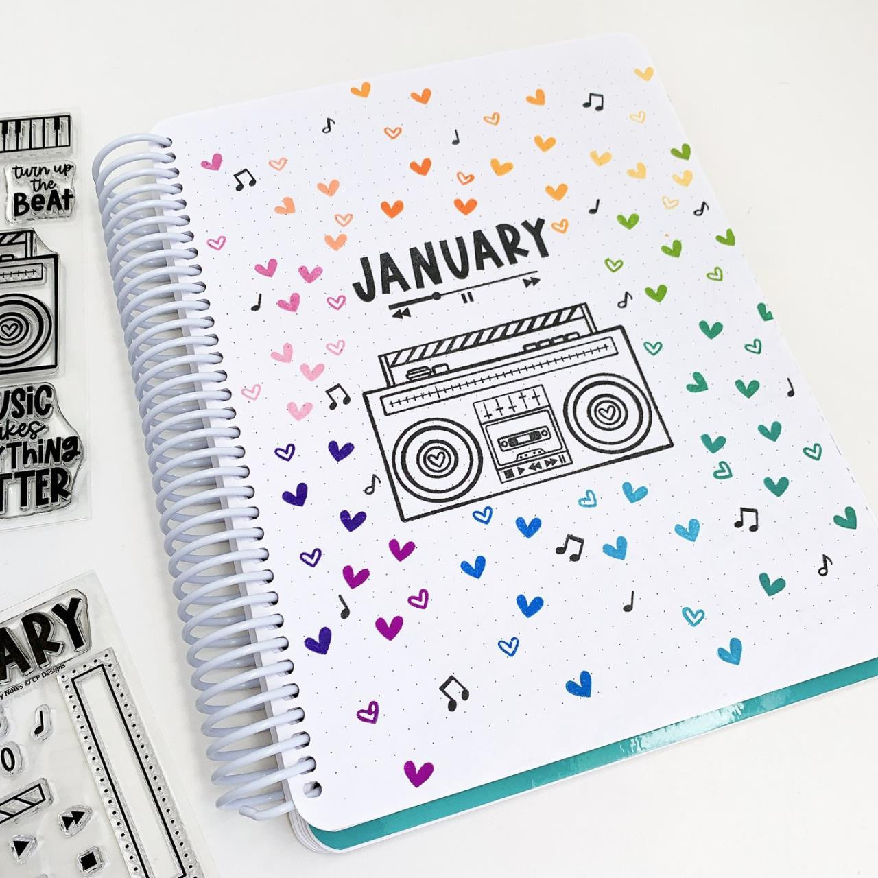 January Notes, Catherine Pooler Clear Stamps -