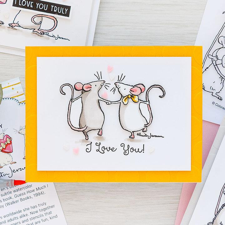 Ever Thine by Anita Jeram, Colorado Craft Company Clear Stamps -