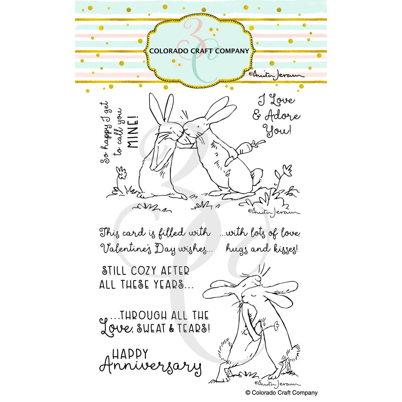 Lots of Love by Anita Jeram, Colorado Craft Company Clear Stamps -