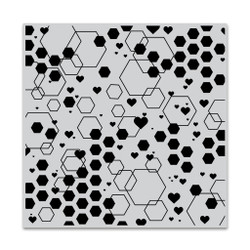 Abstract Honeycomb Bold Prints, Hero Arts Cling Stamps -