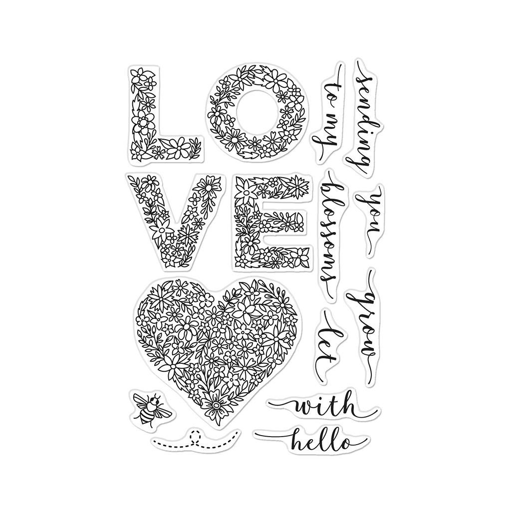 Floral Love, Hero Arts Clear Stamps -