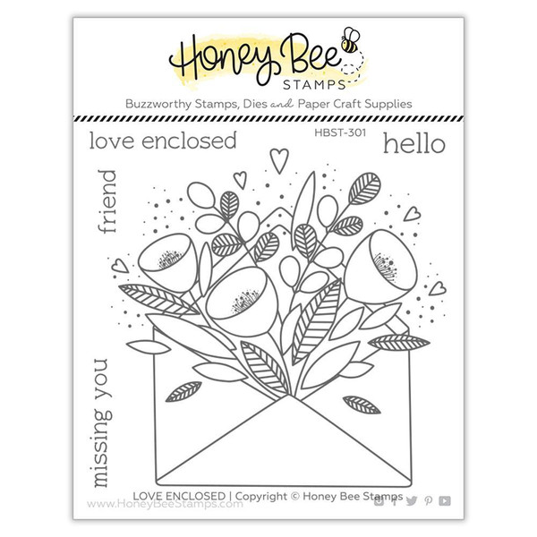 Pretty Postage, Honey Bee Clear Stamps -