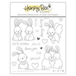Honey Bunnies, Honey Bee Clear Stamps -