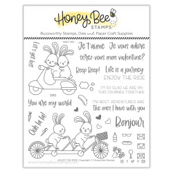 Enjoy the Ride, Honey Bee Clear Stamps -