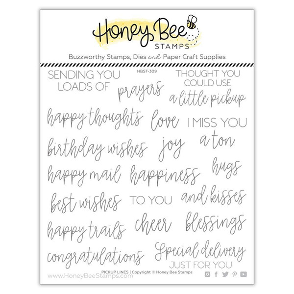 Pickup Lines, Honey Bee Clear Stamps -
