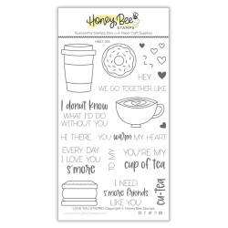 Love You S'more, Honey Bee Clear Stamps -