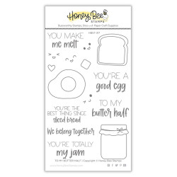 To My Butter Half, Honey Bee Clear Stamps -
