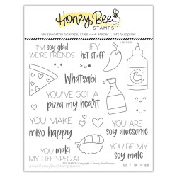 Soy Mates, Honey Bee Clear Stamps -