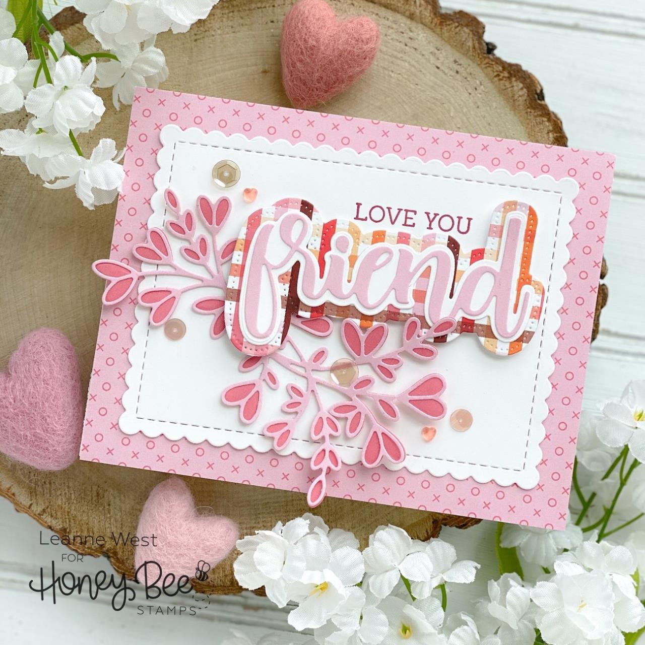 Lovely Layers: Heart Vine, Honey Cuts Dies -