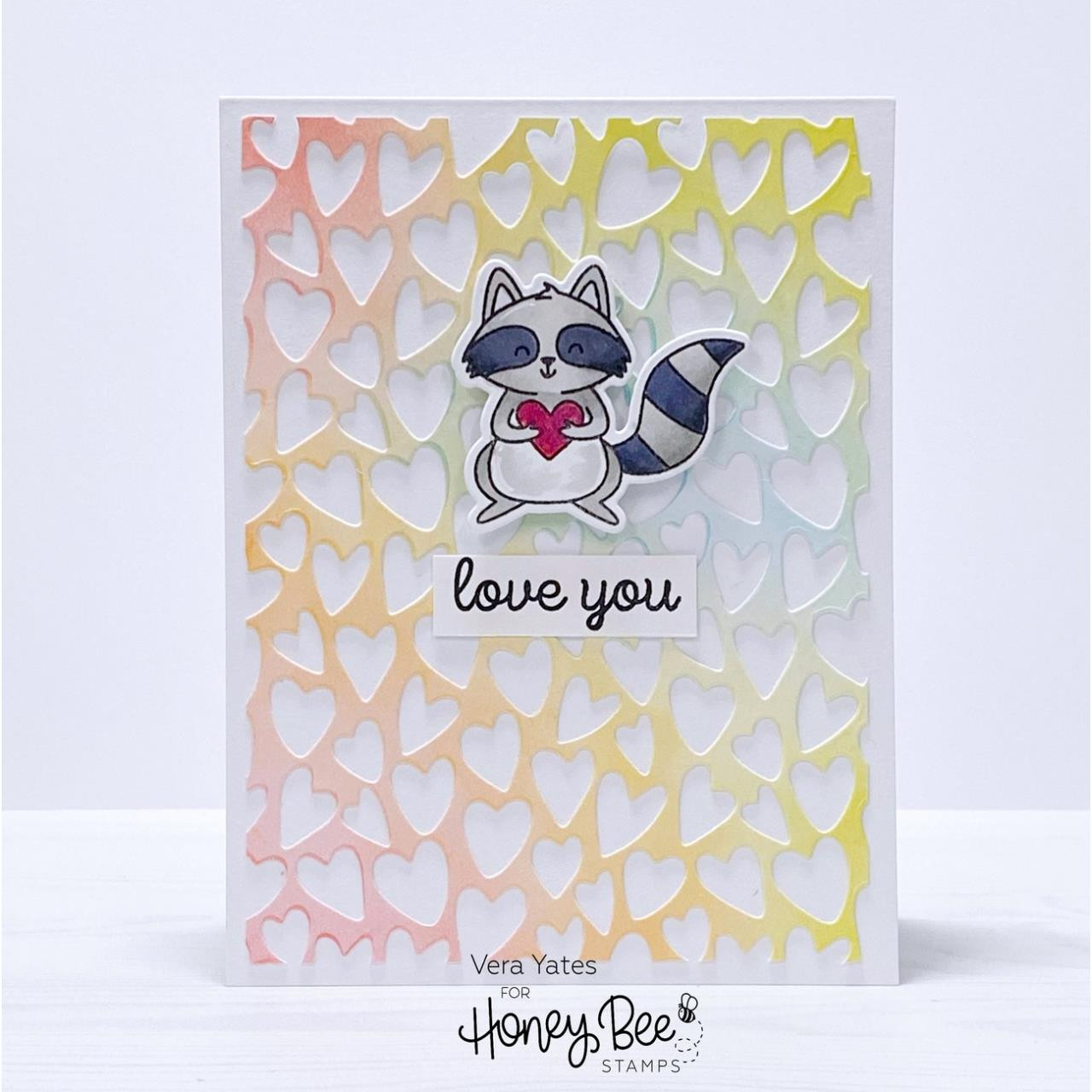 Whimsical Hearts A2 Cover Plate, Honey Cuts Dies -
