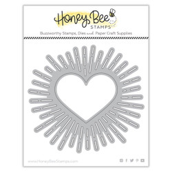 Radiant Heart Background, Honey Cuts Dies -