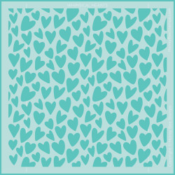 Whimsical Hearts Background, Honey Bee Stencils -