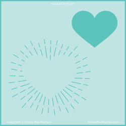 Radiant Heart Background, Honey Bee Stencils -