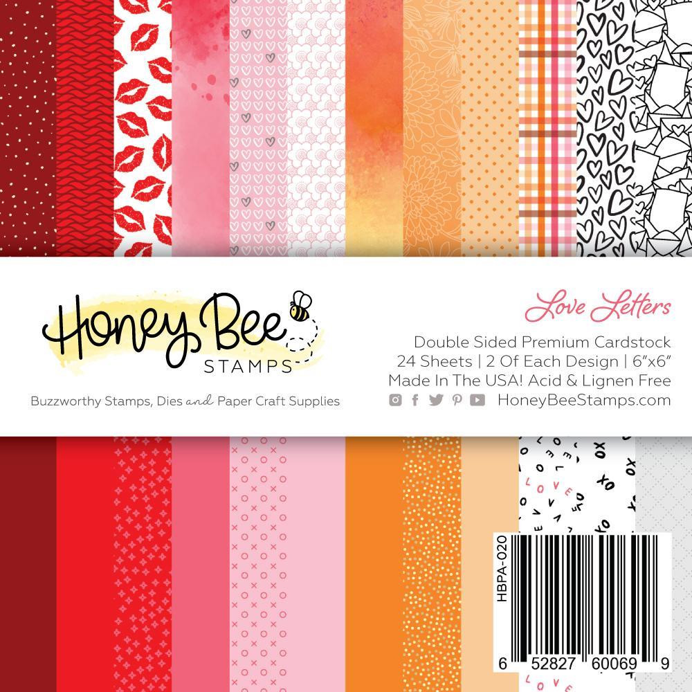 Love Letters, Honey Bee 6 X 6  Paper Pad -