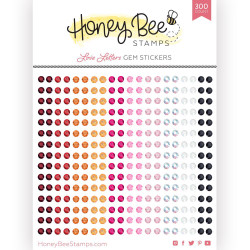 Love Letters Gem, Honey Bee Stickers -