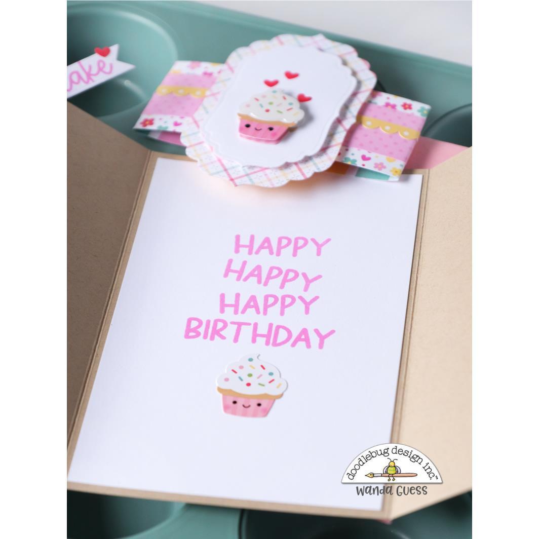 You Bake Me Happy, Doodlebug Clear Stamps -