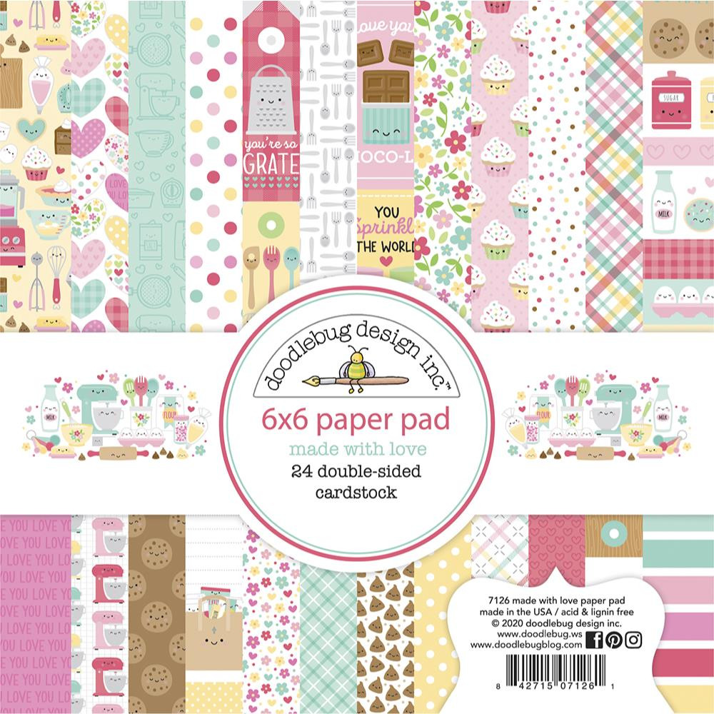 Made With Love, Doodlebug 6 X 6 Paper Pad -