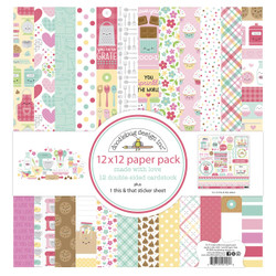 Made With Love, Doodlebug 12 X 12 Paper Pack -