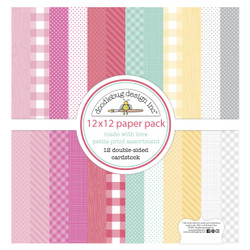 Made With Love Petite Print Assortment, Doodlebug 12 X 12 Paper Pack -