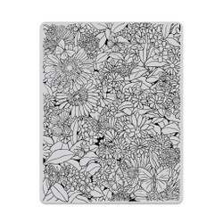 Butterfly Garden Background, Hero Arts Cling Stamps -