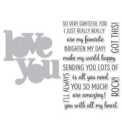 Love You, Hero Arts Clear Stamp & Cut -