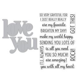 Love You, Hero Arts Clear Stamp & Cut -