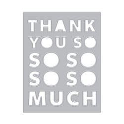 Thank You Message Cover Plate, Hero Arts Dies -