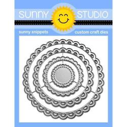 Scalloped Circle Mat 3, Sunny Studio Dies -