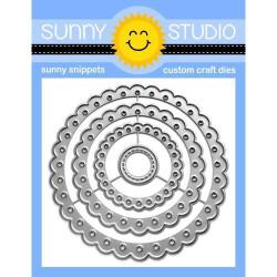 Scalloped Circle Mat 2, Sunny Studio Dies -