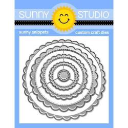 Scalloped Circle Mat 1, Sunny Studio Dies -