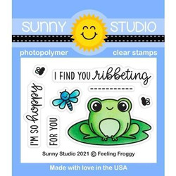 Feeling Froggy, Sunny Studio Clear Stamps -