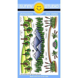 Country Scenes, Sunny Studio Clear Stamps -