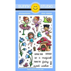 Garden Fairy, Sunny Studio Clear Stamps -