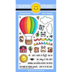 Balloon Rides, Sunny Studio Clear Stamps -