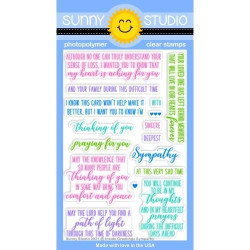 Inside Greetings Sympathy, Sunny Studio Clear Stamps -