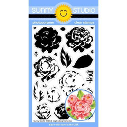 Captivating Camellias, Sunny Studio Clear Stamps -