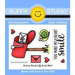 Snail Mail, Sunny Studio Clear Stamps -
